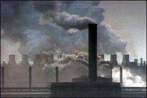 Smoking factory chimneys BBC
