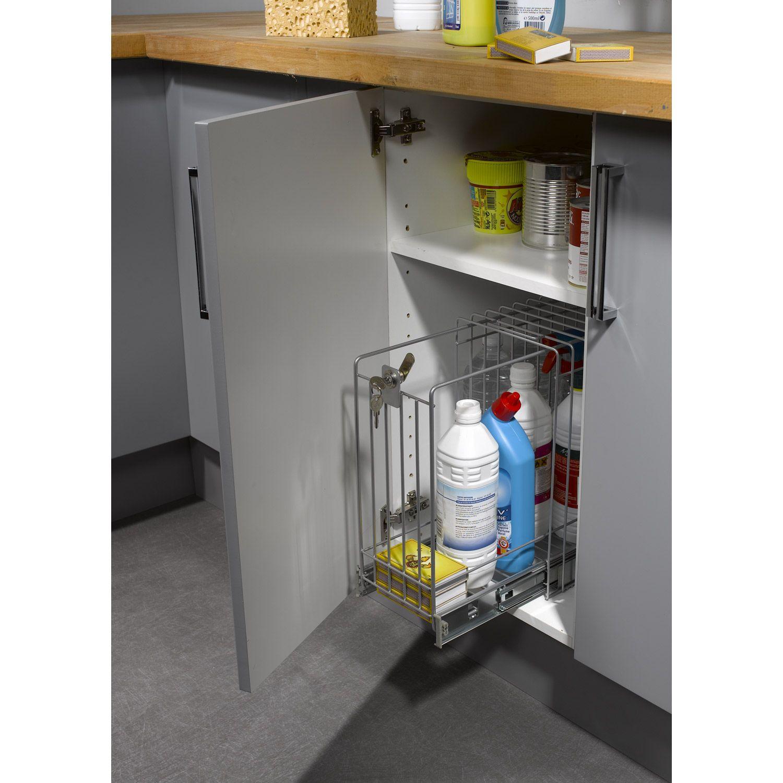 Rangement Des Produits D Entretien rangement coulissant produits d'entretien sécurisé pour