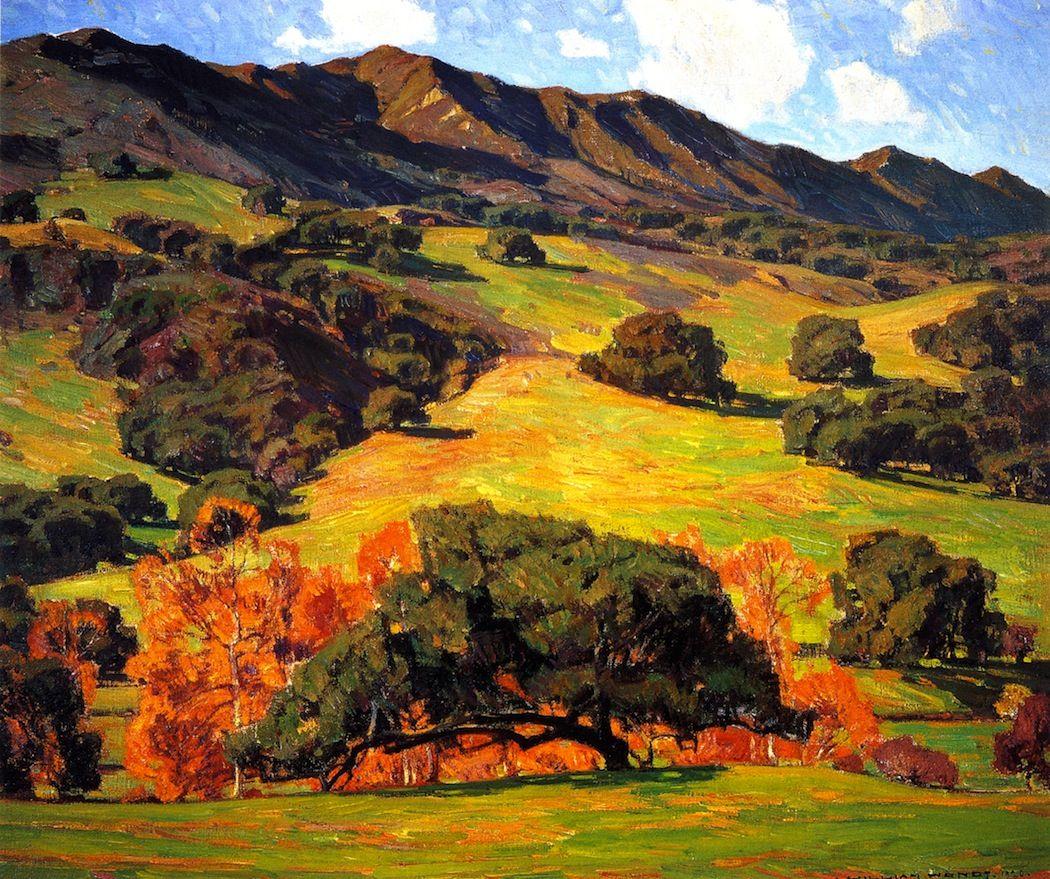 The Athenaeum Verdant Hills (William Wendt ) Plein