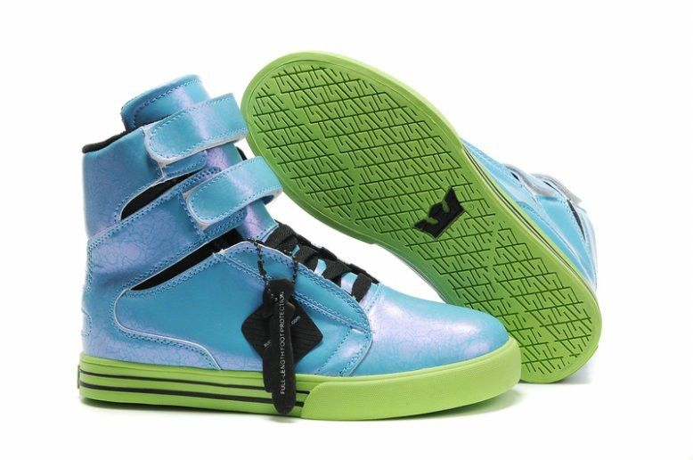 Supra TK Society Blue Green Black Womens High Tops  5a9ef4019