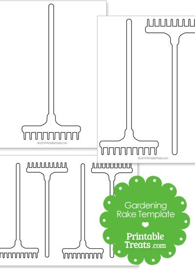 Printable Gardening Rake Template From Printabletreats Com