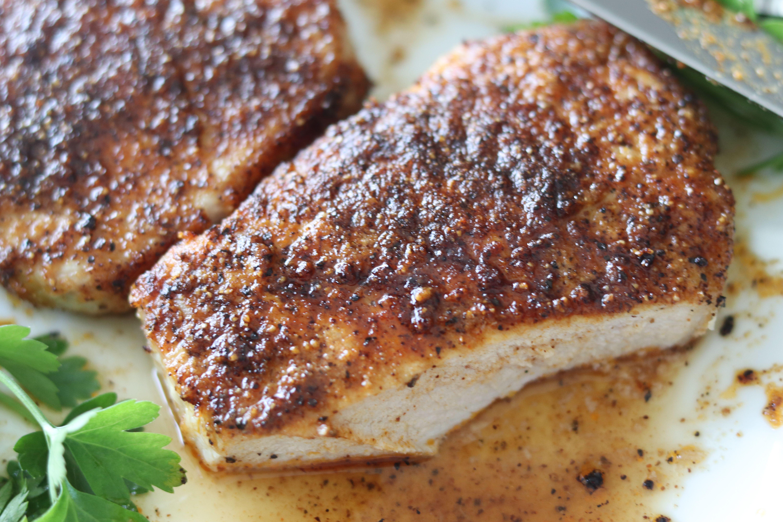 Juicy Air Fryer Pork Chops with Rub Recipe Air fryer