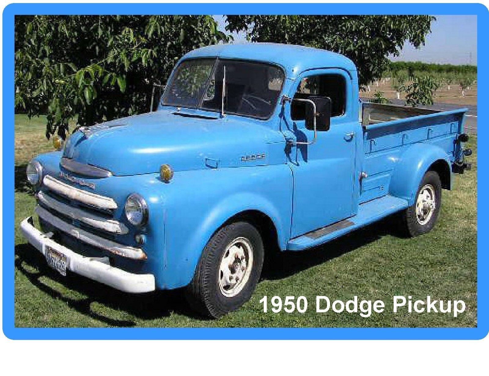 1950 Dodge Pickup Refrigerator Tool Box Magnet Man Cave Dodge Pickup Dodge Old Dodge Trucks