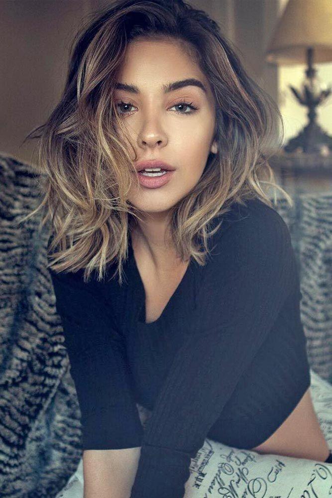 Schulterlange Haarschnitte für dickes Haar | Frisuren
