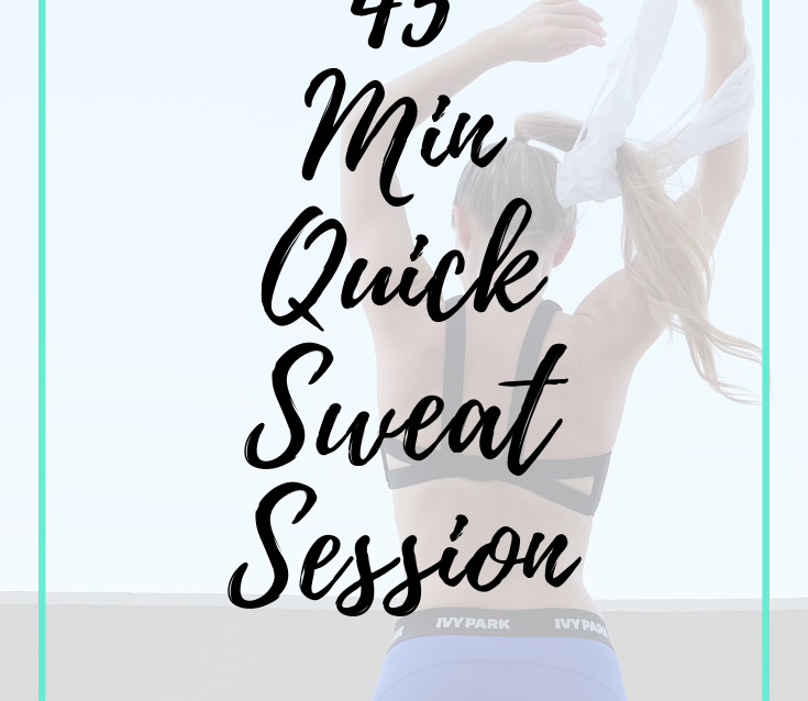 Sweaty Quick Workout for When Time is Crucial and you need to get sh*t done! Repin and click for you...