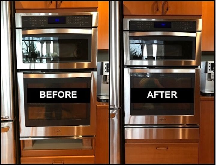 Whirlpool Wall Oven Filler Strip Before After Wall Oven