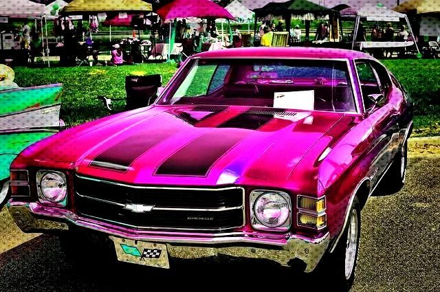 Pink Chevelle (the car if the Supernatural Winchesters were girls? LOL) ,