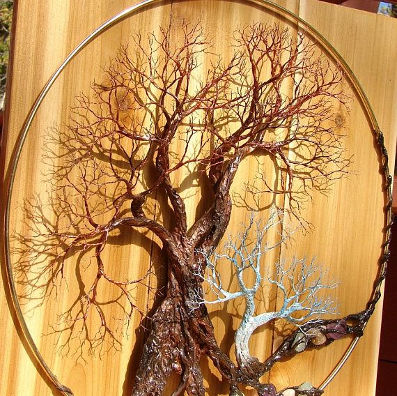Metal Tree Of Life Forest wall art Walk Softly Speak Softly | wire ...