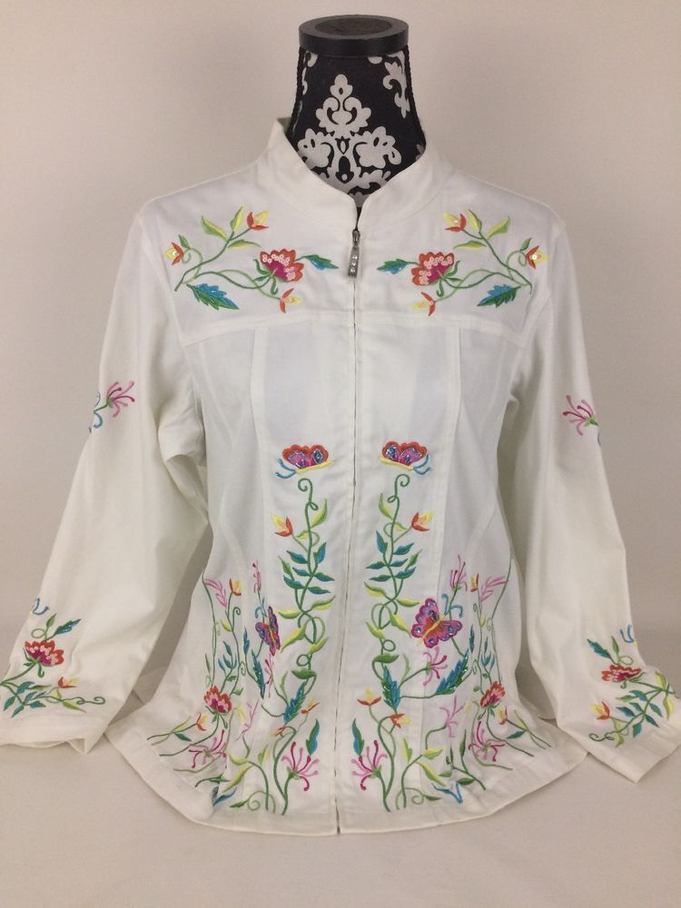 Time to Look FANCY With a Quacker Factory Flower Embroidered Zip