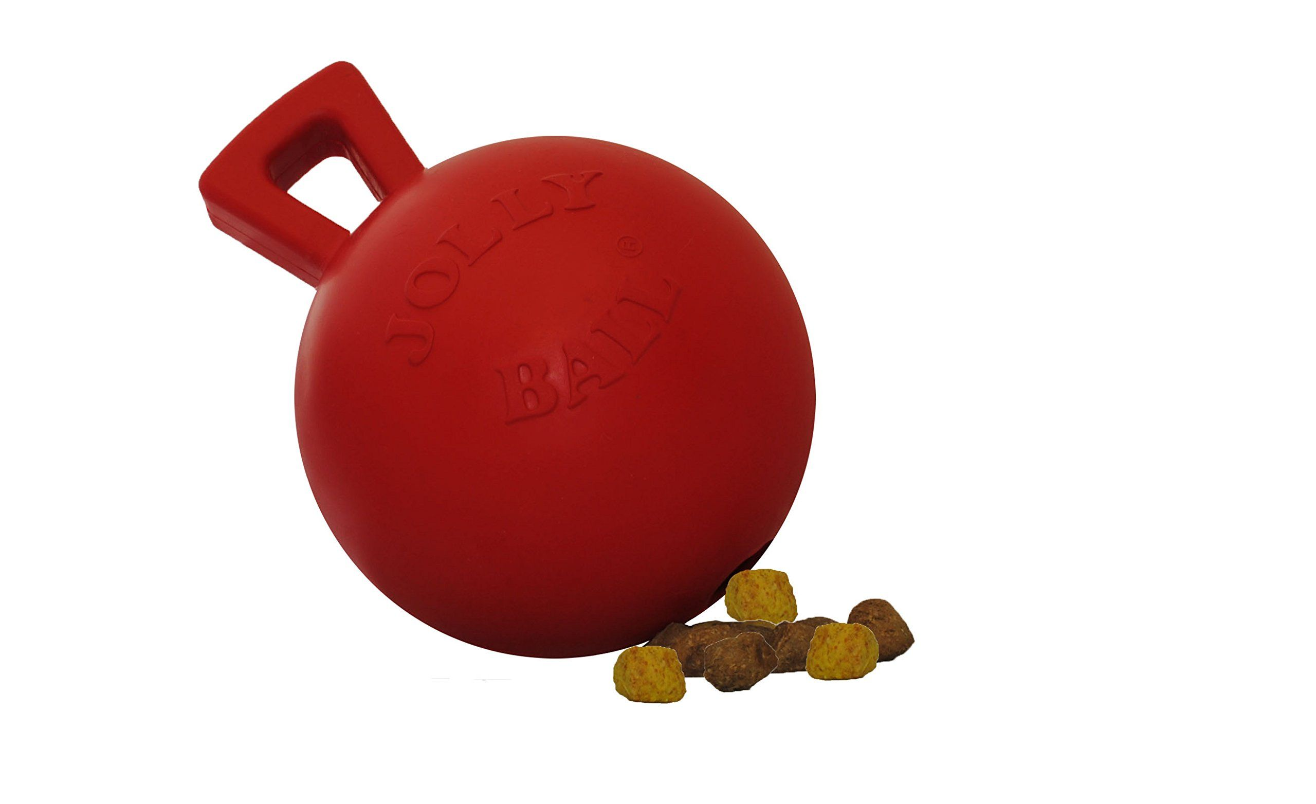 Jolly Pets 4inch Tugntoss Toy Ball Mini Red More Info Could Be