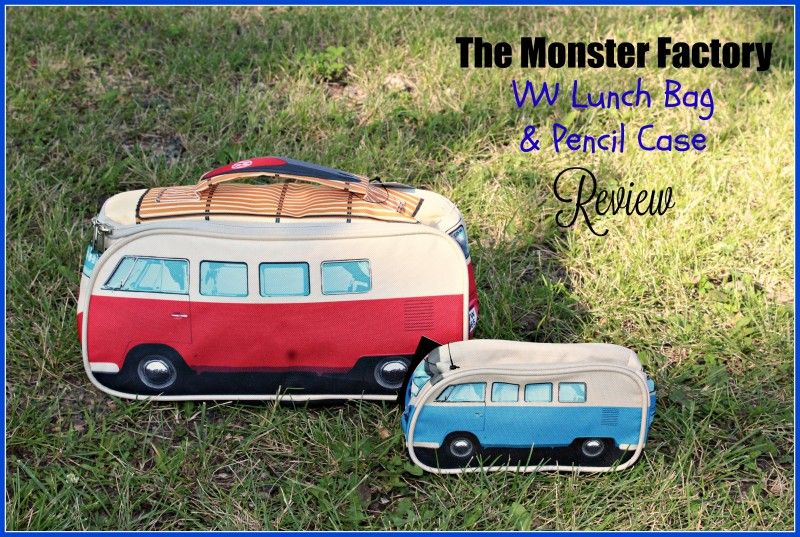 The Monster Factory's 1965 VW Camper Van Lunch Bag and Pencil (Accessories) Case {For Back-To-School}