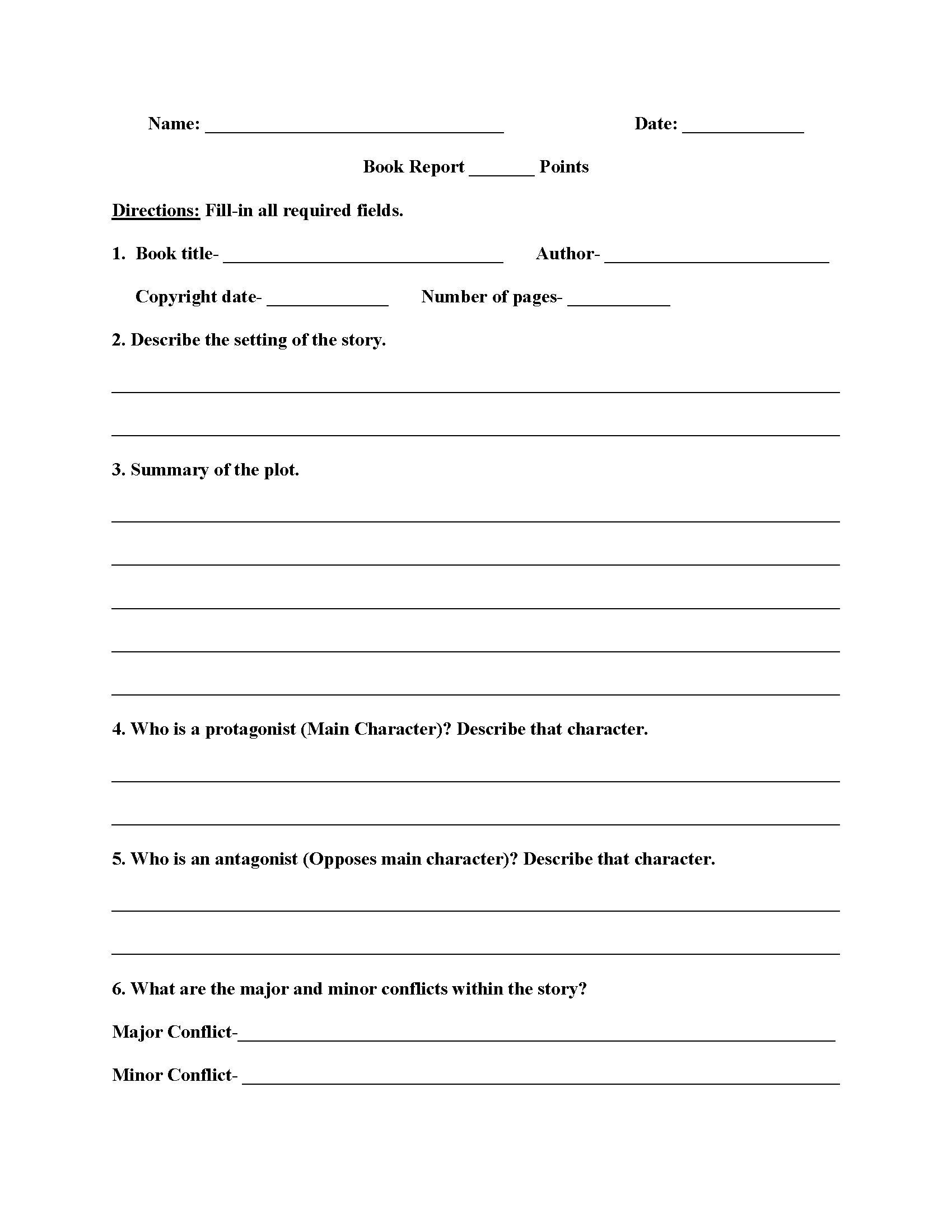 022 Template Ideas High School Book Report Free Wondrous