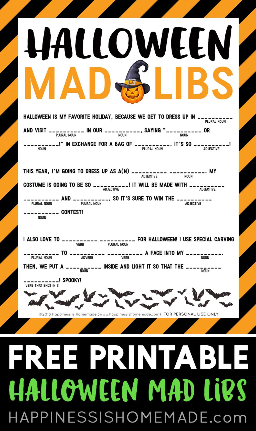 mad libs Google Search in 2020 Halloween mad libs