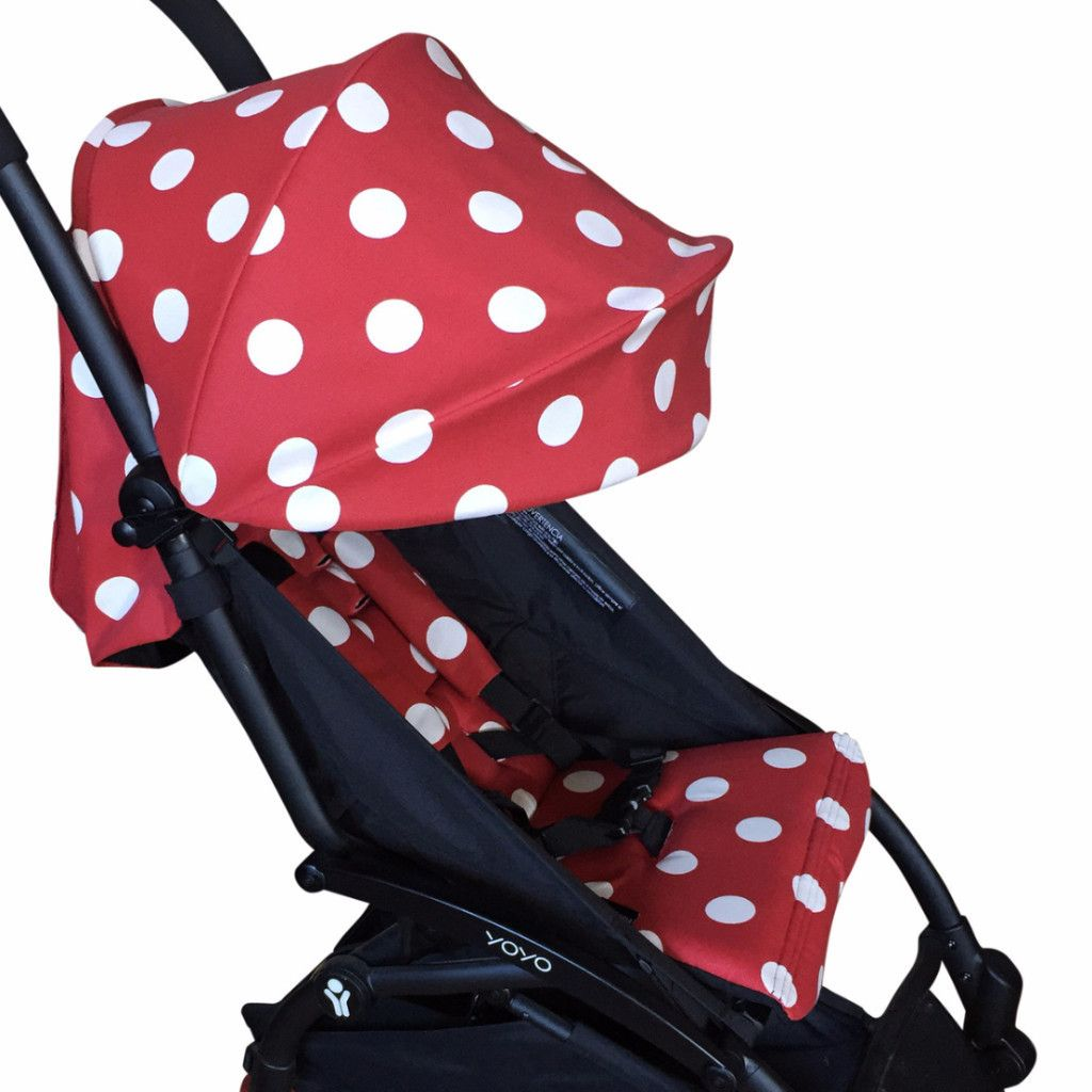 Babyzen Yoyo Vs Bugaboo Bee 3 Red Polka Dot Hood Seat Liner And Strap Cover Set Bugaboo