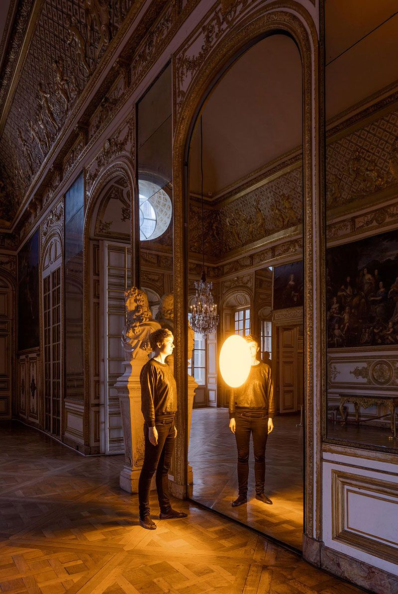 A look at the three water-related outdoor art installations and six spatial-related indoor art installations by artist Olafur Eliasson at Versailles.