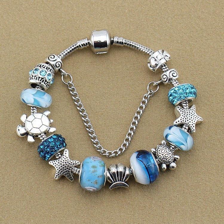 Blue Charm Bracelet: Blue Sea Turtle Bracelet – Animal Planet Jewelry