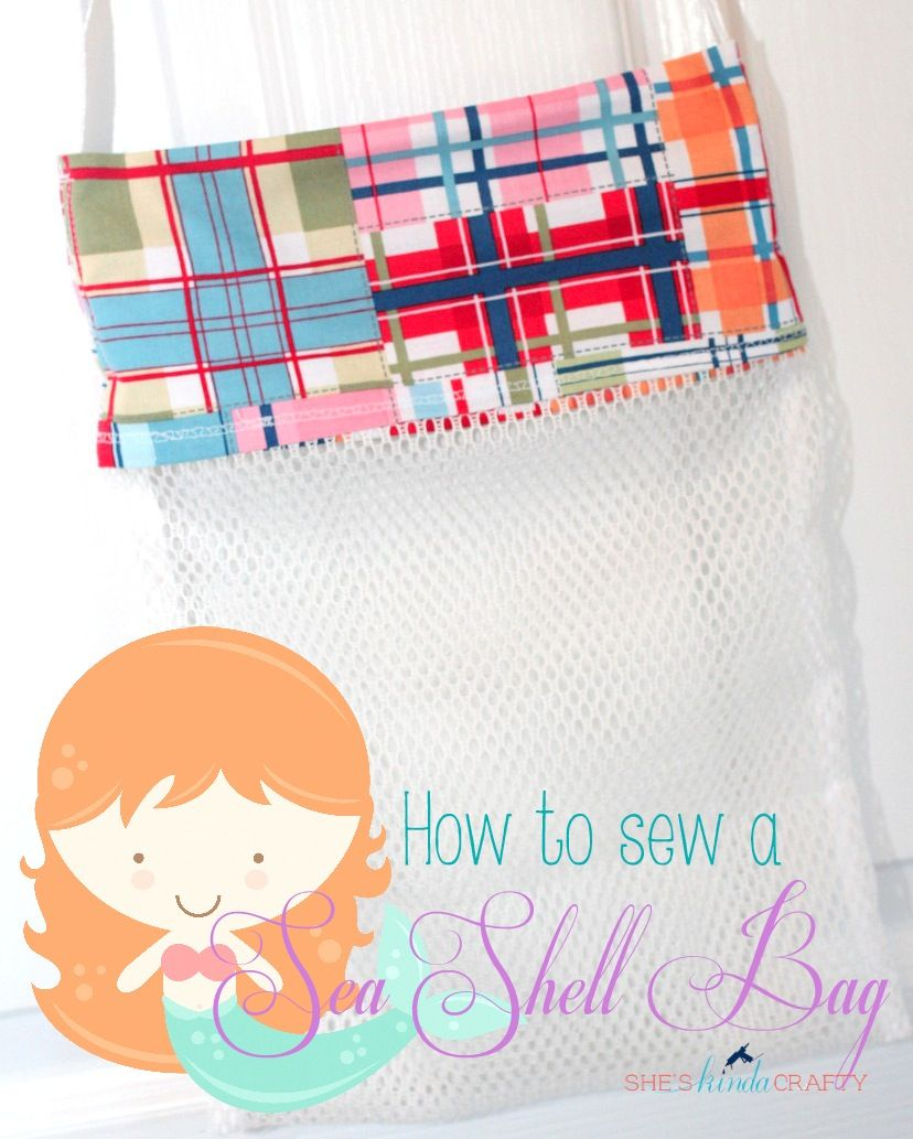 Sea Shell Bag -Tasche für kleine Muschel Sammler | Freebook\'s ...
