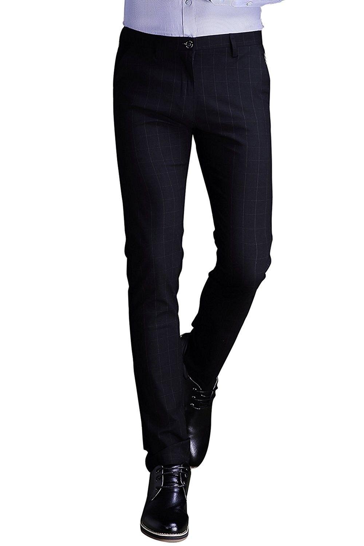 Mens Plaid Dress Pants Wrinkle Free Stretch Slim Fit Elastic Suit Pants Trousers Black Blue Ci185494y5d Plaid Dress Pants Mens Plaid Dress Pants Mens Plaid [ 1500 x 1000 Pixel ]