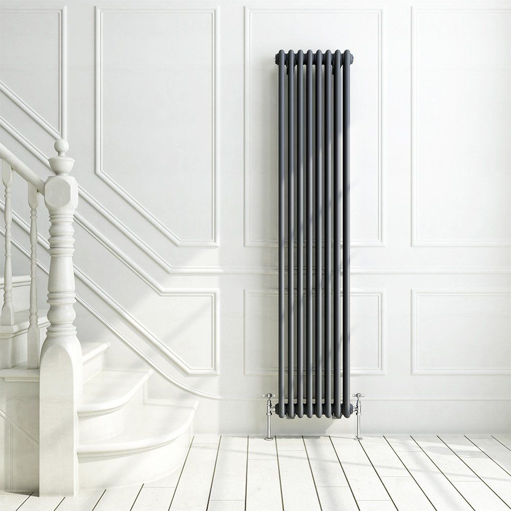 iBathUK | 1800 x 380 mm Traditional Cast Iron Anthracite Triple ...