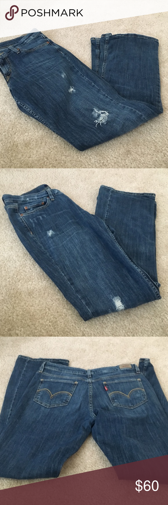 Levi's 518 jeans 👖 Distressed jeans perfect condition. No trades. Levi's Jeans Boot Cut