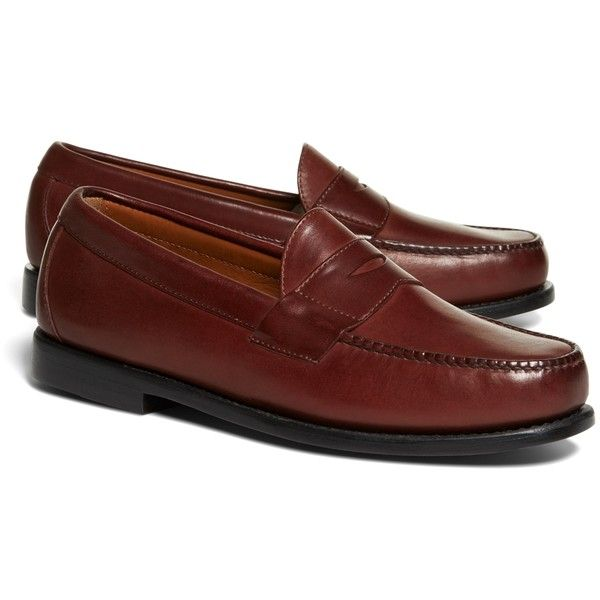 7677534f4ea Brooks Brothers Classic Penny Loafers ( 248) ❤ liked on Polyvore featuring  men s fashion