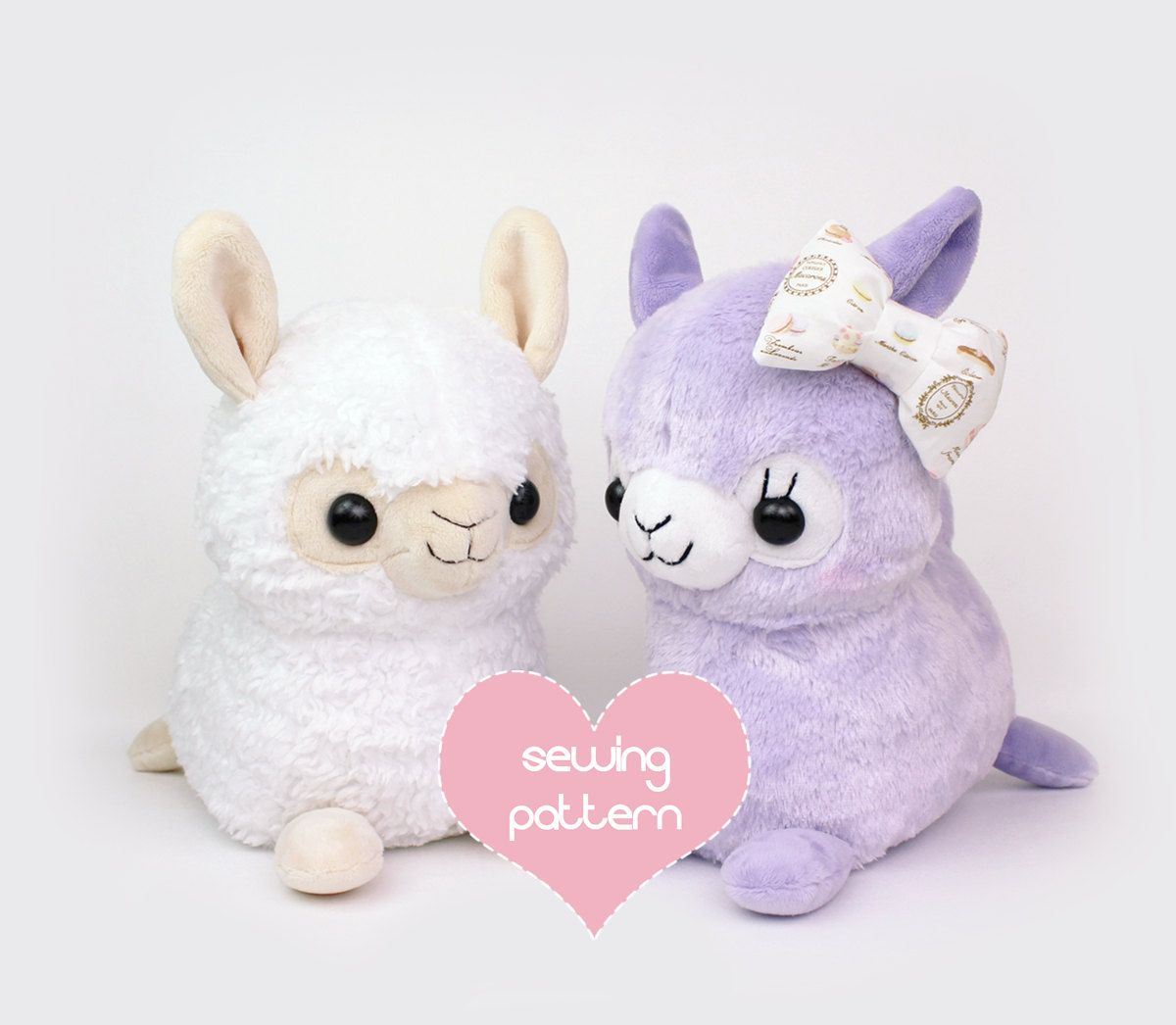 PDF sewing pattern - Alpaca Llama stuffed animal - kawaii plush ...
