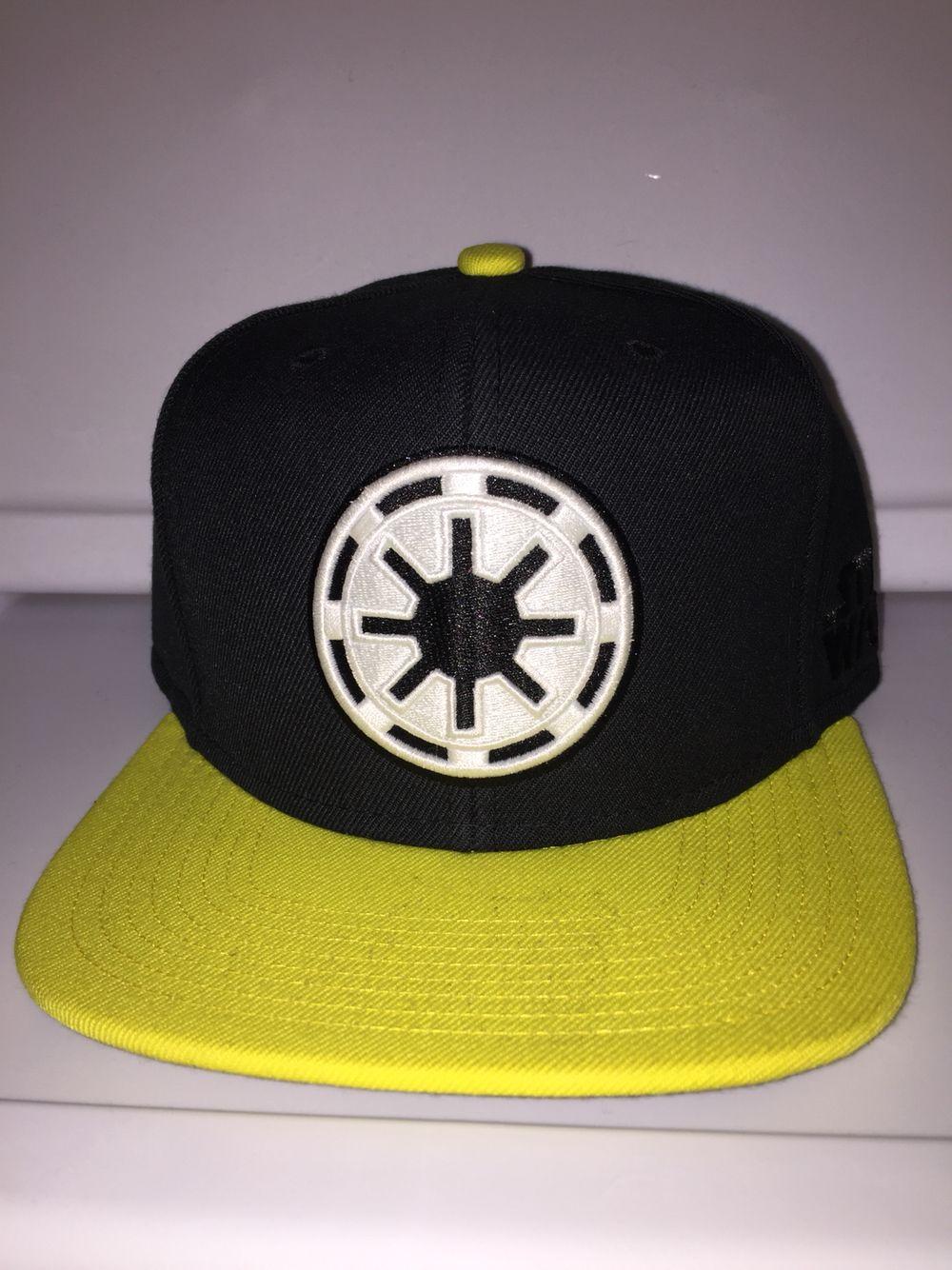 Star Wars starter snapback imperial symbol black with yellow brim C-3PO  under brim f99ab0215ef8