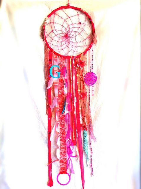 #dreamcatcher #rachaelrice #cosmicamerican #etsy #pink