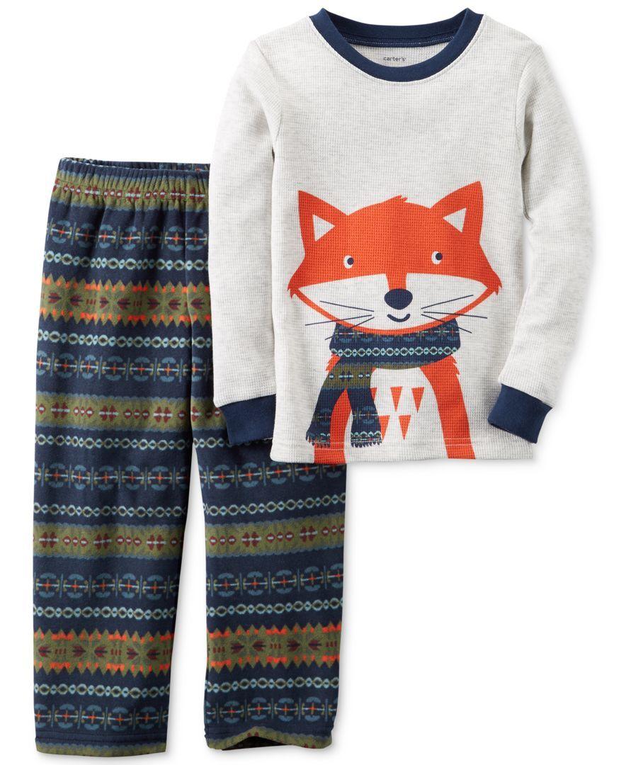 Carter/'s Little Boys/' 2-Piece Walrus Fleece PJs 2-Toddler