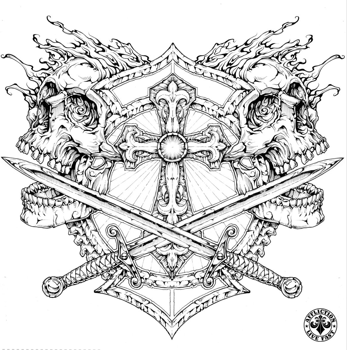 pin on affliction