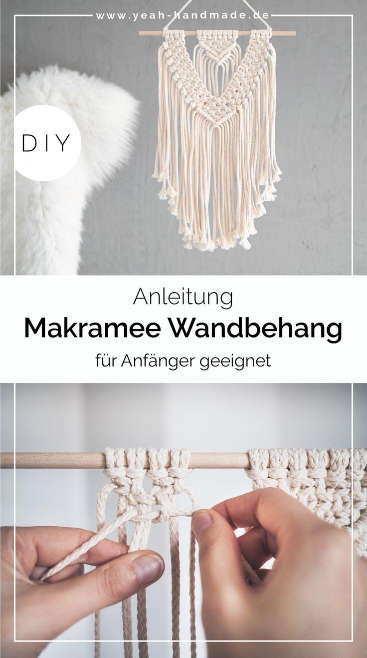 DIY Anleitung für einen Makramee Wandbehang