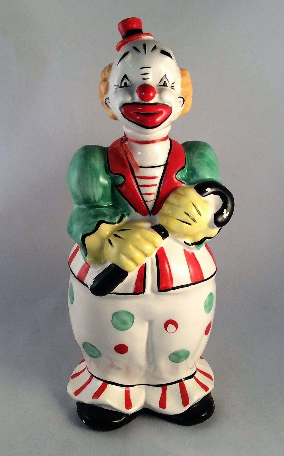 87d14b6da7da0 ON SALE: Mid-Century Hand Painted Fairyland Import Clown Figurine ...