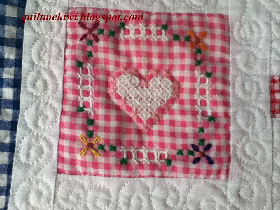 Block close up of Chicken Scratch quilt | Customer quilts ... : chicken scratch quilt - Adamdwight.com