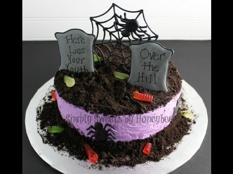 Watch Me Decorate a Graveyard Cake - YouTube