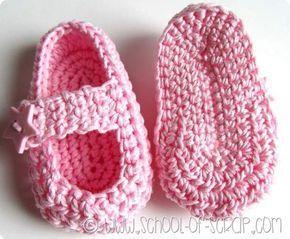 Scuola di Uncinetto: come si fanno le scarpine per neonati Little star #uncinettoperbambina
