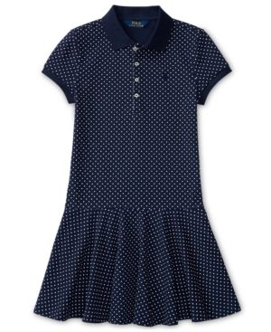 Ralph Lauren Polo Dress, Toddler & Little Girls (2T-6X) - Newport Navy/antique Cream 2/2T