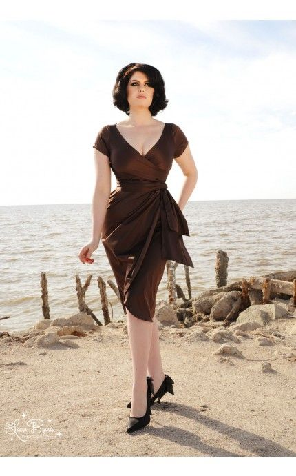 Ava Dress in Chocolate Brown
