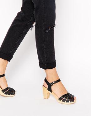 2f95955ef5 Swedish Hasbeens Black Fredrica High Heeled Sandals   On your feet ...