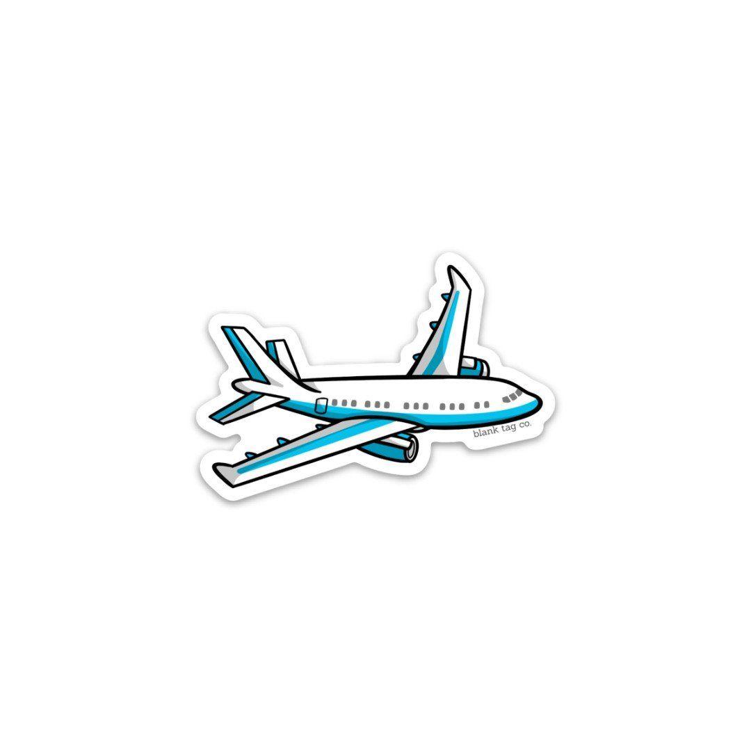 The Airplane Sticker Macbook Stickers Travel Stickers Cute Laptop Stickers [ 1080 x 1080 Pixel ]