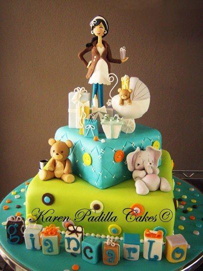Beautiful cake Baby cake Baby shower Baby Mom to be  Cake