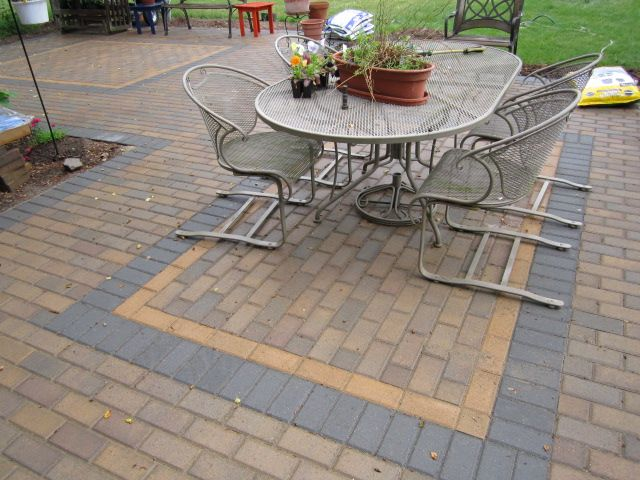 Unique paver patio pattern using the traditional holland for Pinterest patio pavers