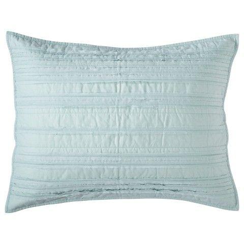 Threshold Raw Edge Quilted Sham Mint Ash Standard Quilted Sham Quilt Bedding Quilted Pillow Shams