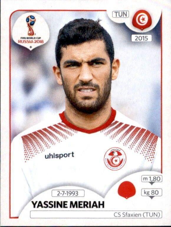 Yassine Meriah - Tunísia Figurinhas Da Copa 0e4ab186eb4e6