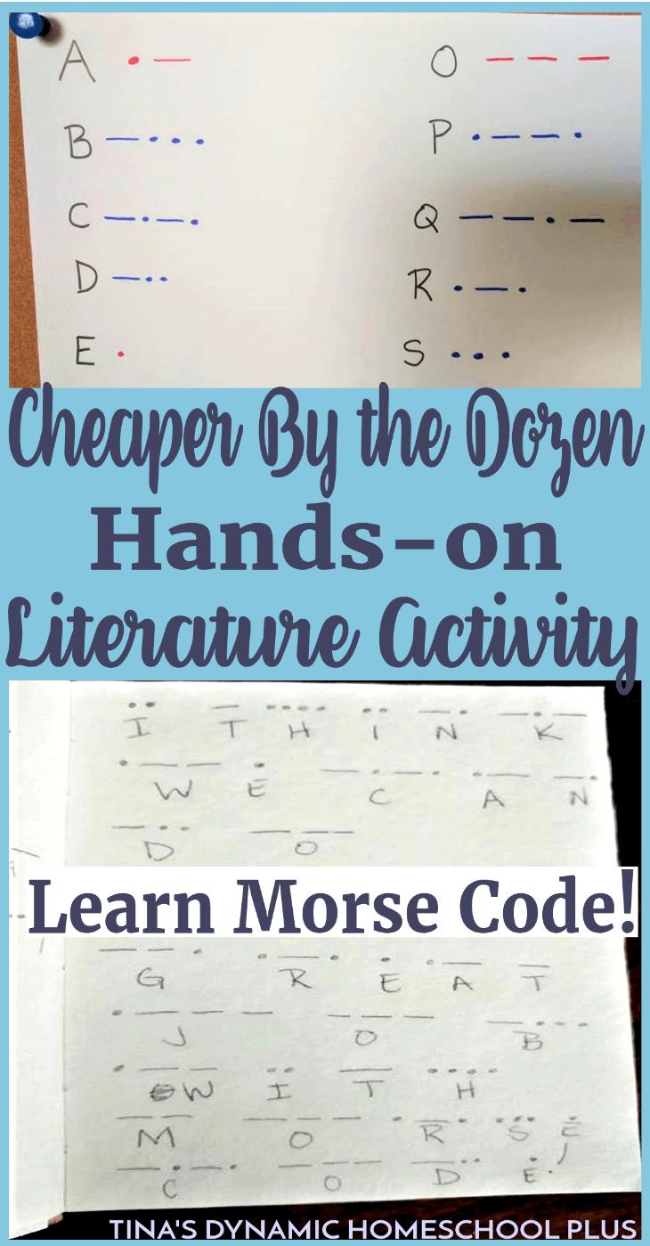 Cheaper By the Dozen Hands-On Literature: Learn Morse Code! | Morse ...