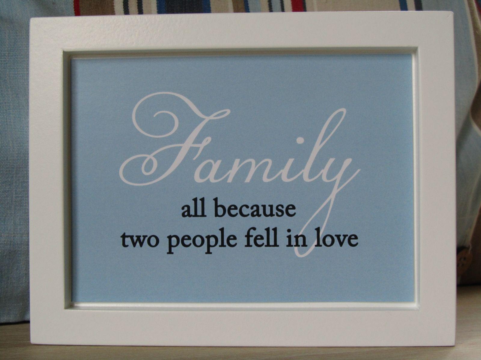 Framed Family In Love Quote Wall Art http://felt.co.nz/listing/111476/Framed-Family-In-Love-Quote-Wall-Art