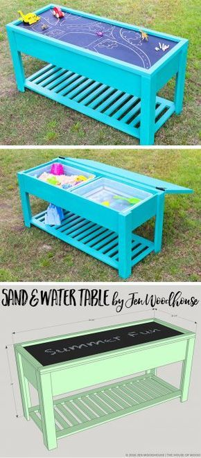 How To Make A Sand And Water Table Diy Enfant