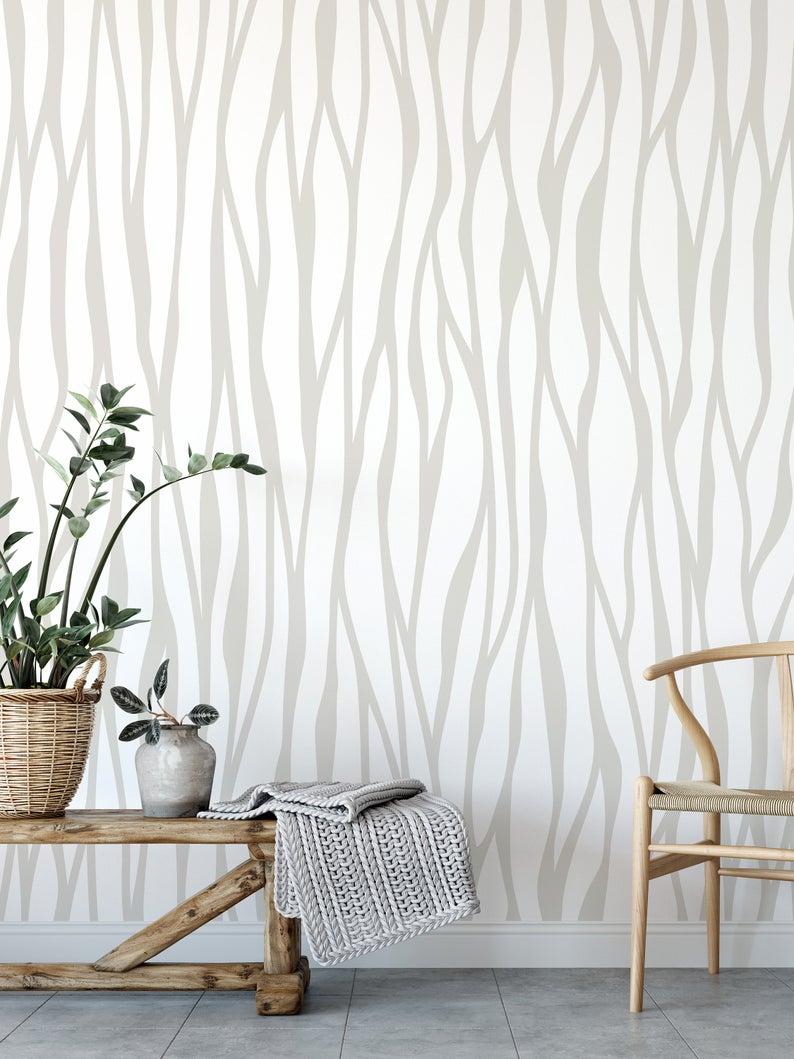 Wallpaper Gray Removable Wallpaper Vinyl Wallpaper Peel Etsy Grey Removable Wallpaper Geometric Wallpaper Temporary Wallpaper