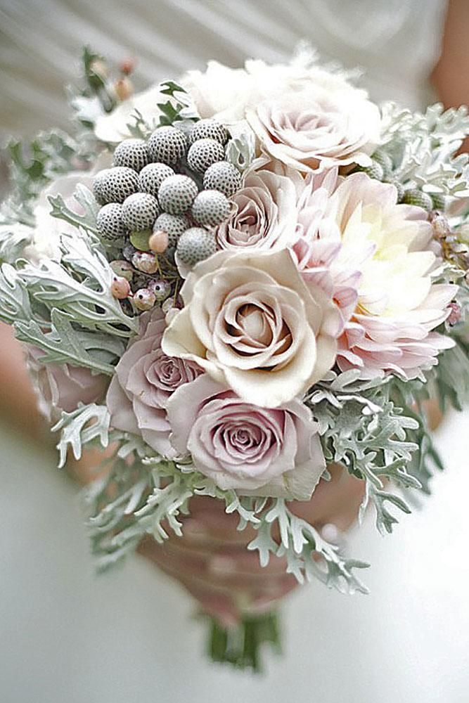 Photo of Trend Alert For Winter: 24 Silver And Grey Wedding Bouquets