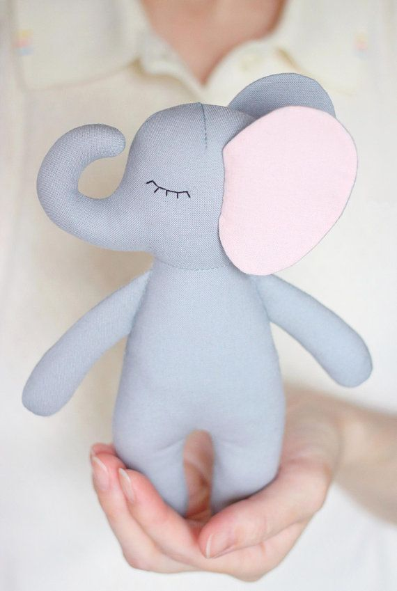 PDF Elephant Sewing Pattern & Tutorial — DIY Jungle Animal Rag Doll, Soft / Stuffed Cloth Toy, or Safari Themed Nursery Decor