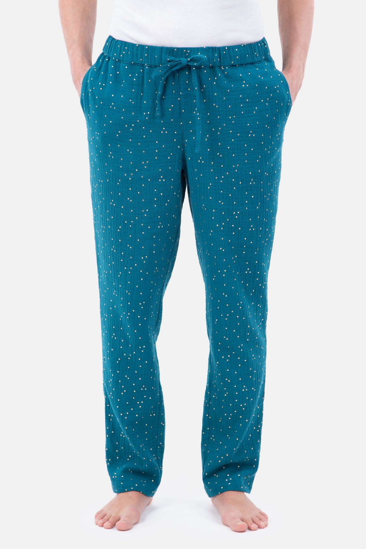 Photo of Sewing pattern for jogging pants made of woven fabric